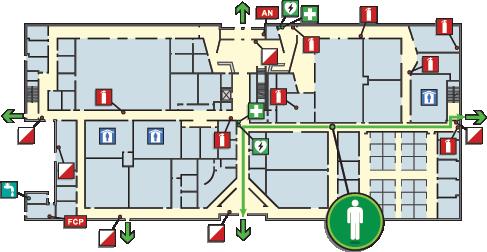 pictographix building evacuation maps evacuation plan displays